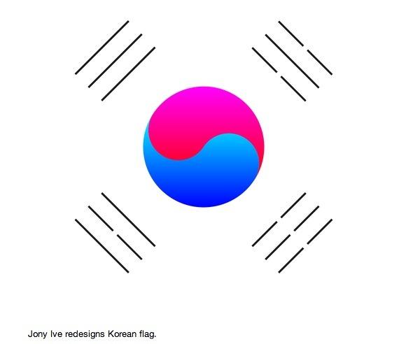 ive设计的韩国国旗