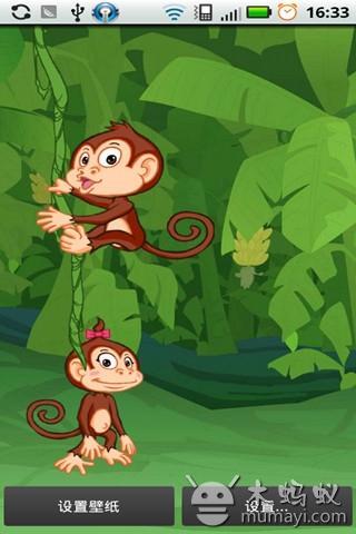 猴子爬树动态壁纸 下载_猴子爬树动态壁纸 手机版下载
