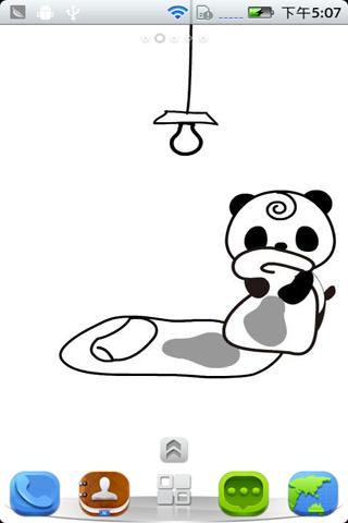 宝软桌面-黑白小熊下载