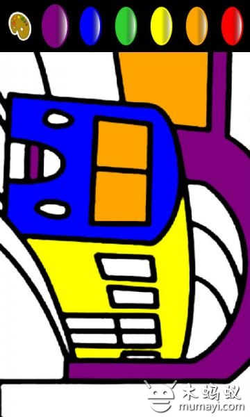 该程序提供多种动物图形可供孩子图上颜色,跟其他幼儿绘画的应用程序
