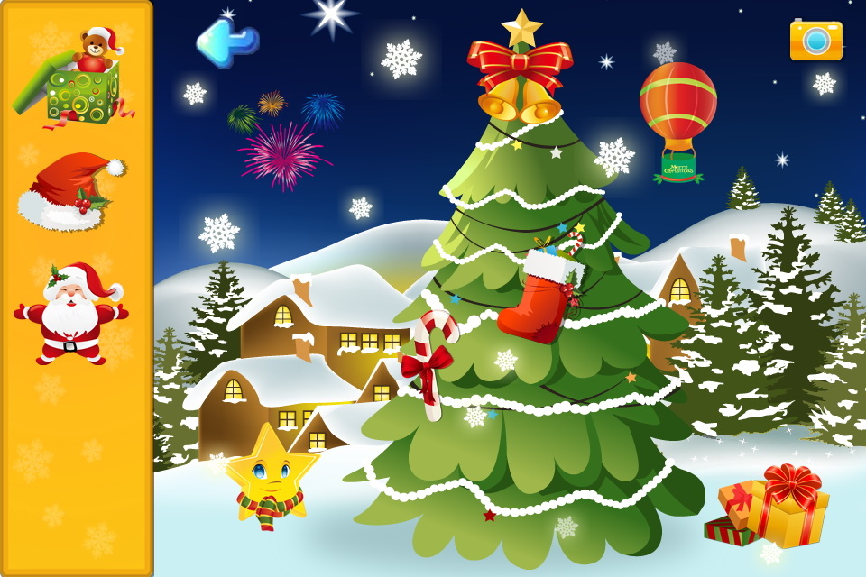 本儿童拼图游戏是以圣诞节中的各种风景和圣诞老人奇特的动物园为