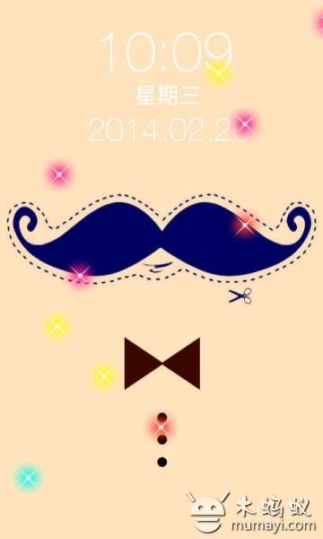 可爱的小胡子一键锁屏 v2.0