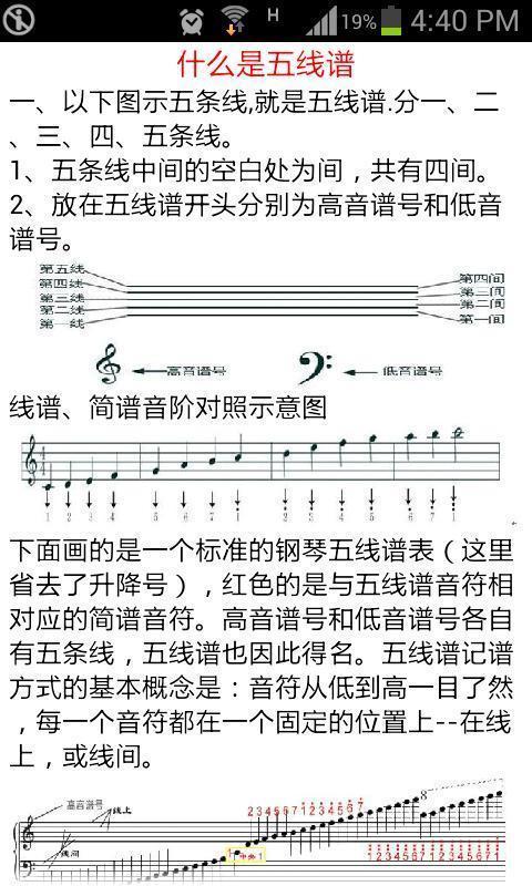 那就先来学习五线谱吧