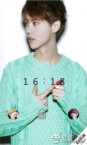 韩国可爱明星鹿唅热门锁屏v1.0_主题壁纸_软件_木蚂蚁