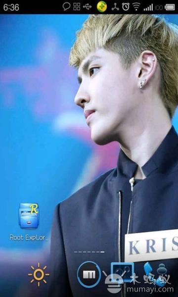 主题 exo 锁屏/EXO超帅气主题锁屏:按住中间EXO logo,可以四项解锁哦,解锁...