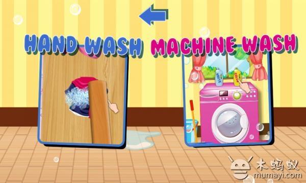 《洗衣女孩》是一款模拟小女孩洗衣服的休闲游戏 卡通的可爱画风,优美的背景音乐,来一次愉悦的洗衣服游戏吧 游戏玩法: - 有两种洗衣模式选择,传统的手搓和专业的机洗。 - 手搓前要先将衣服充分浸泡,再抹上各种肥皂进行拍打和冲洗,最后就可以晾晒咯 - 机洗前要先将脏衣服分开,再分别把脏衣服放进洗衣机洗干净,衣服晾晒干后还要一件一件熨烫好防止起皱哦 洗衣女孩 洗衣女孩1.