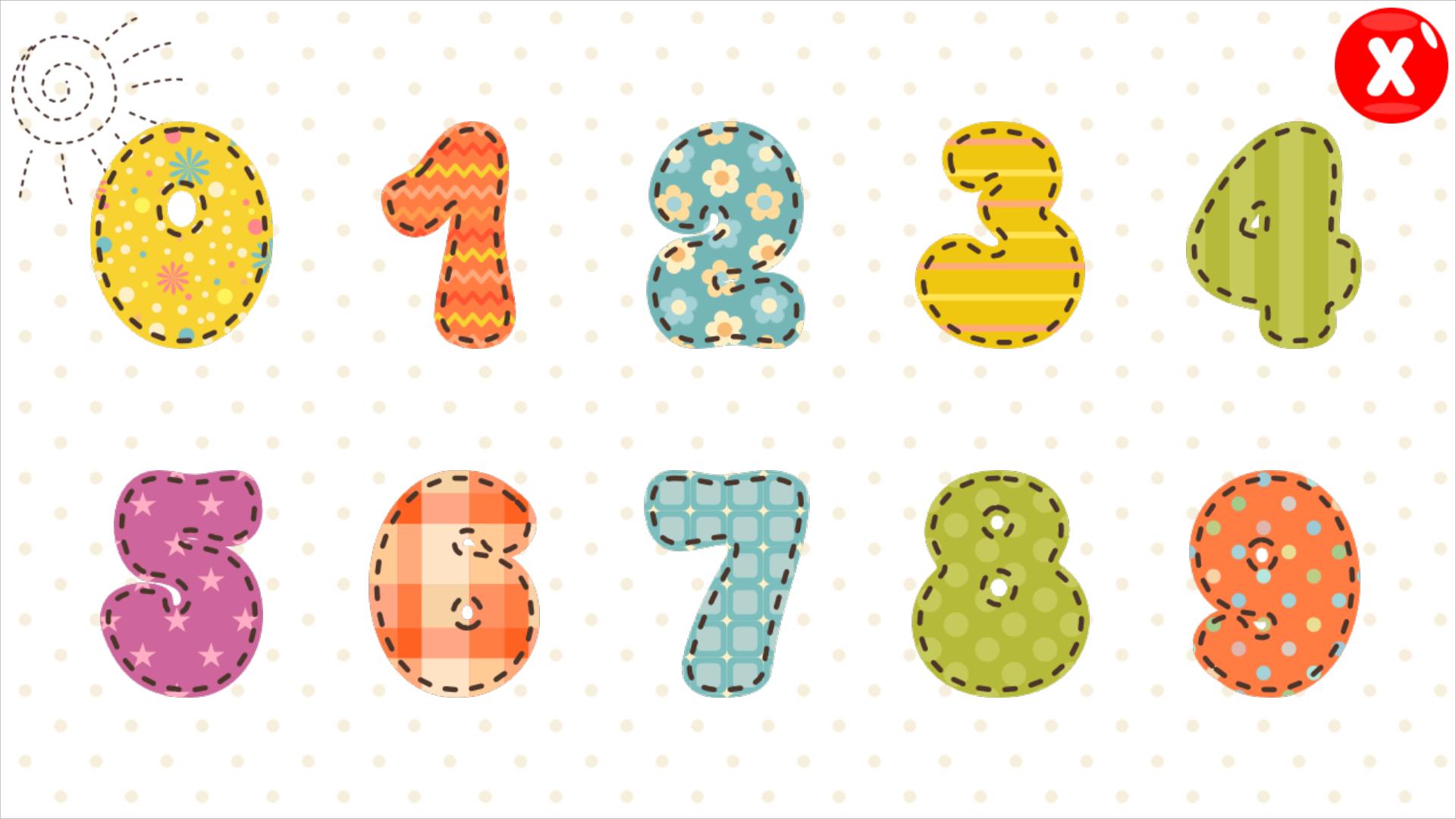 应用中含有10以内的数字发音,宝宝学数数和数字拼图三个版块,让宝宝在