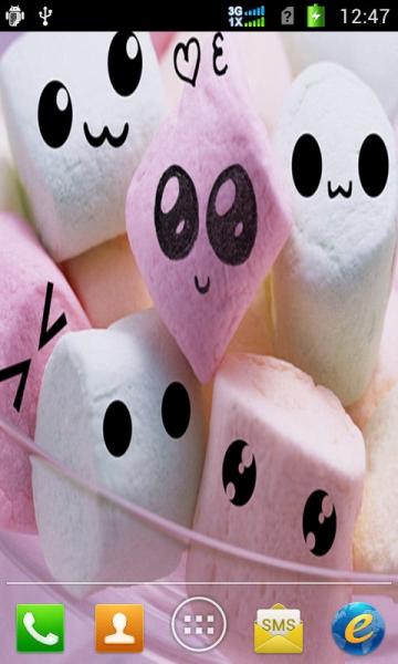 可爱棉花糖动态壁纸