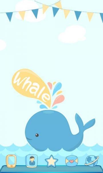 宝软3d主题-可爱小海豚